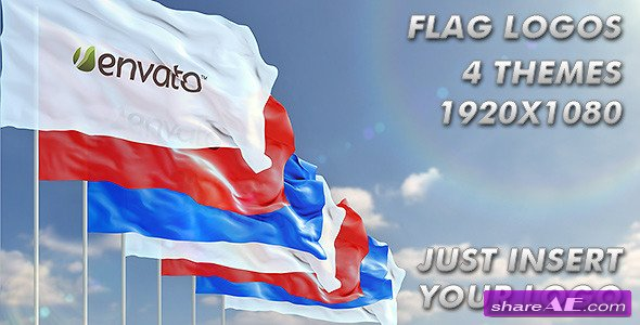 Waving Logo on Flag - After Effects Project (Videohive)