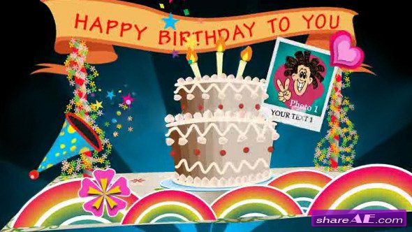 Birthday Card Pop up V1 - Projects for After Effects (VideoHive)