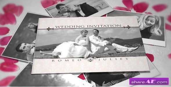 wedding invitation after effects project videohive