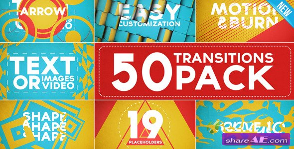 50 Transitions Pack with Opener Videohive
