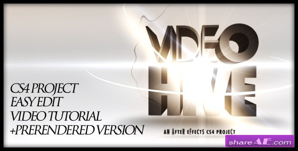 3D text opening -  After Effects Project (VideoHive)