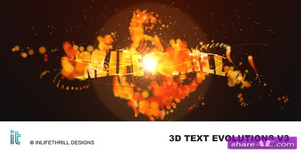 3D-TextEvolutions V3 - Fire - After Effects Project (Videohive)