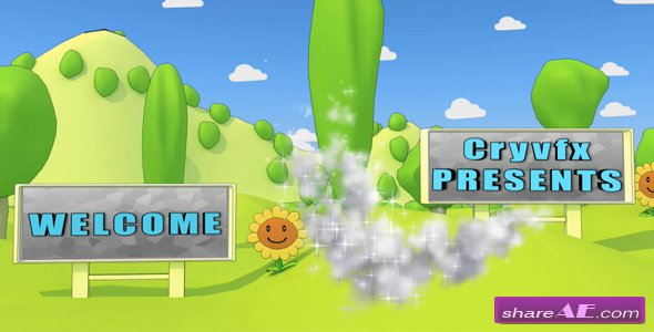 Cartoon Park 3D Animation - After Effects Project (Videohive)