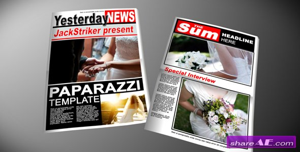 Paparazzi Tabloid Newspaper -  After Effects Project (VideoHive)