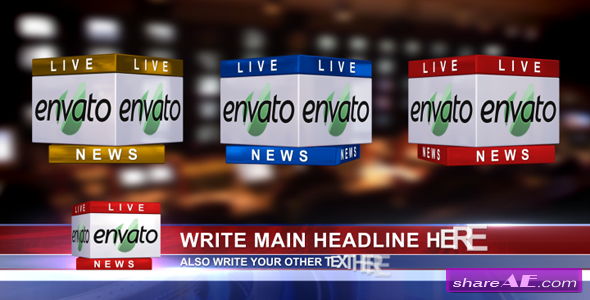 3D News Logo & Lower Third Ver 1.1 - After Effects Project (VideoHive)