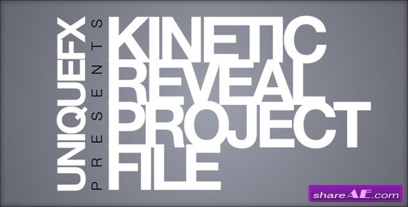 Kinetic Reveal - After Effects Project (VideoHive)