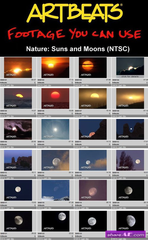 Artbeats - Nature: Suns and Moons (NTSC)