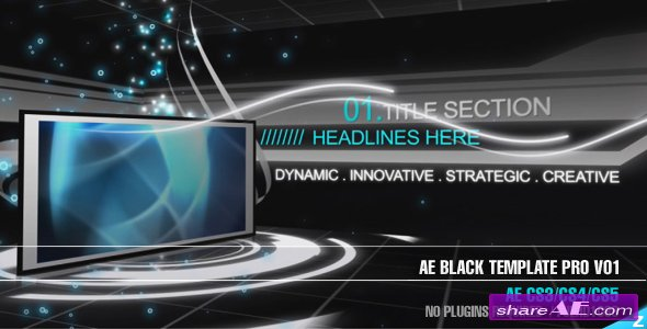 Black Template Pro V01- After Effects Project (VideoHive)
