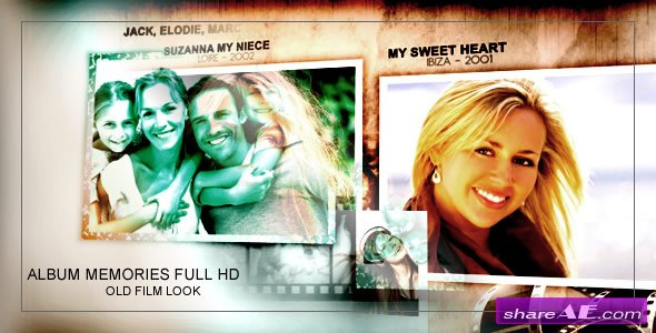 Album memories Old Film Look -  After Effects Project (VideoHive)