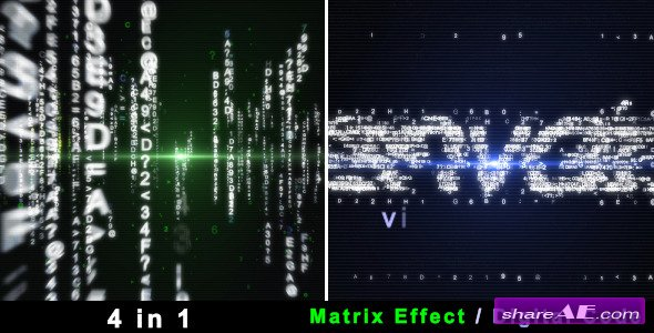 Particle Effect 4 (Digital Code and Matrix) - After Effects Project (Videohive)