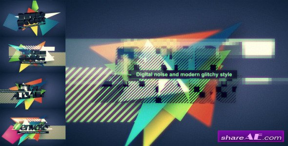 Digital Retro Title / Logo opener - After Effects Project (Videohive)
