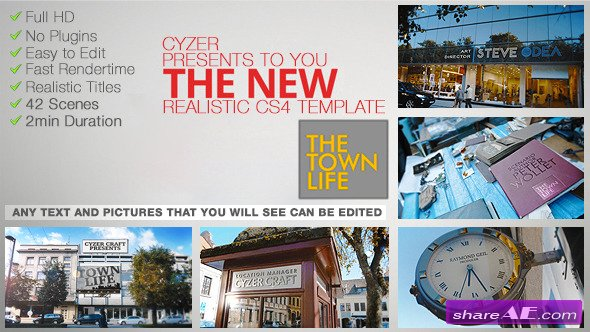 Town Life Intro Promotion - TV Series Opener - After Effects Project (Videohive)