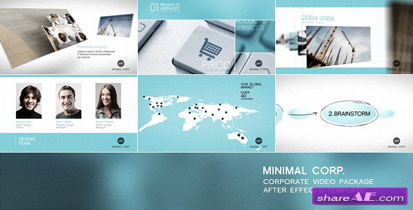 Minimal Corp - Corporate Video Package - After Effects Project (Videohive)