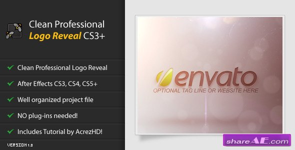 Clean Professional Logo Reveal CS3 - After Effects Project (Videohive)