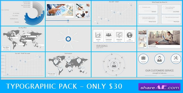 Typographic Pack - After Effects Project (Videohive)