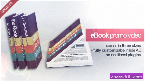 3D Book Mock-up -  Project After Effects (VideoHive)