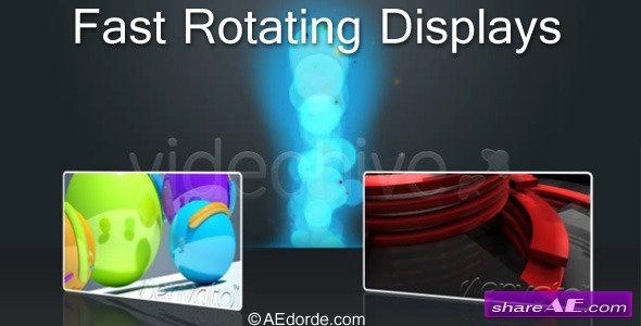Fast Rotating Displays -  After Effects  Project (Videohive)