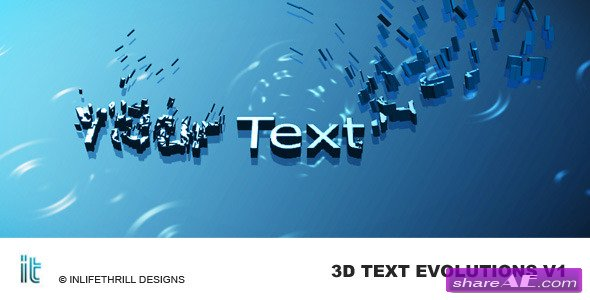 VideoHive 3D-Text Evolutions Project for After Effects