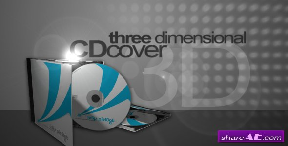 3D CD Cover Mock-up - After Effects Project (VideoHive)