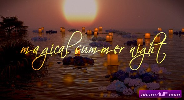 Photo Gallery on a Magical Summer Night - After Effects Project (VideoHive)