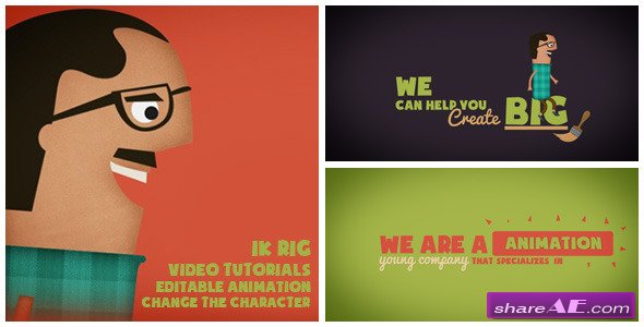 Animated Character Service Promotion - After Effects Project (Videohive)