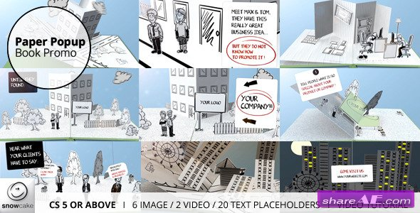 Paper Popup Book Promo - After Effects Project (Videohive)
