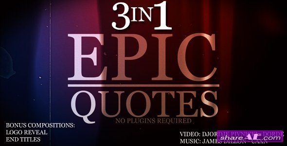 Epic Quotes 3IN1 - After Effects Project (Videohive)