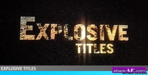 Explosive Titles Trailer HD -  After Effects Project (Videohive)