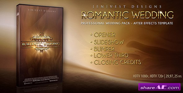 Romantic wedding after effects project videohive for After effects cs4 intro templates free download