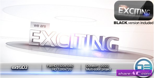 ExtruD3 - After Effects Project (Videohive)