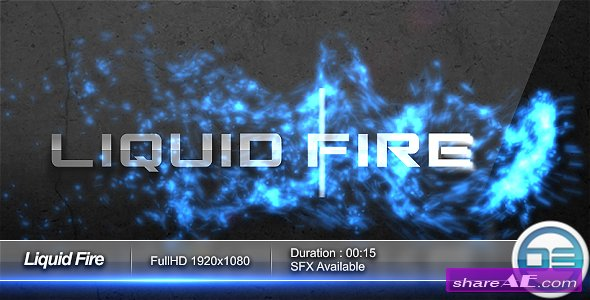 Liquid Fire Logo FullHD After Effects Project (Videohive)