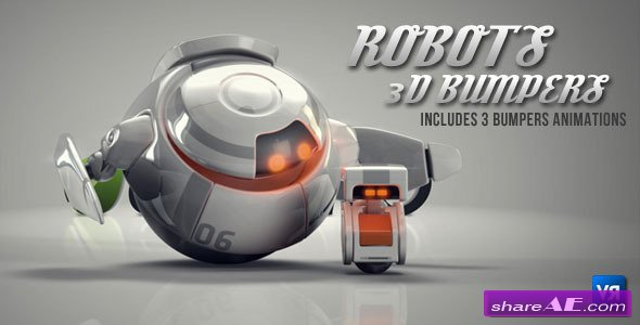 Robots 3D logo bumpers - After Effects Project (Videohive)