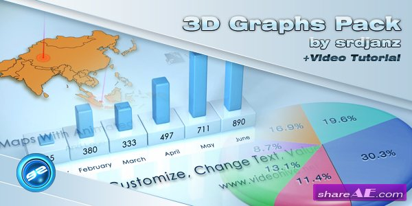 3d Graphs Pack - After Effects Project (Videohive)