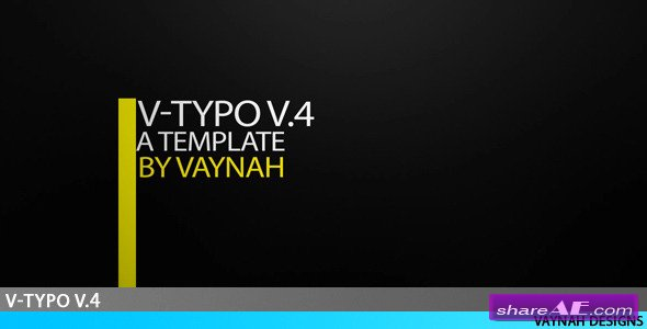 V-Typo V.4 HD Typography - After Effects Project (Videohive)