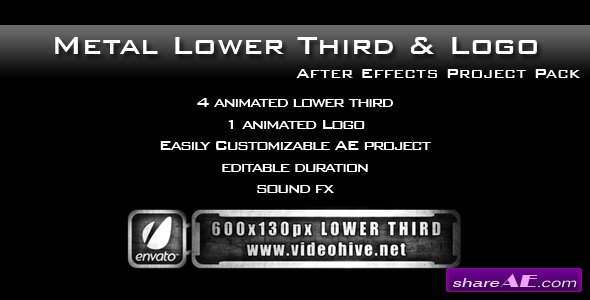 Metal Lower Third & Logo AE Project PACK - After Effects Project (Videohive)