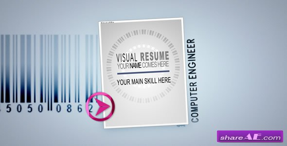visual resume alpha animated curriculum after effects