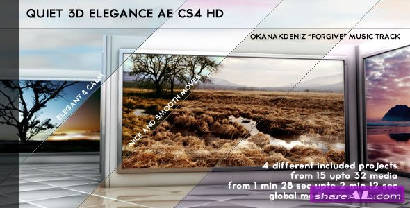 Quiet 3D Elegant Slideshow After Effects Project (Videohive)