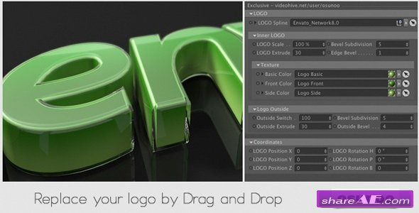 Glass Wrapped Logo - Cinema 4D Templates (Videohive) » free after