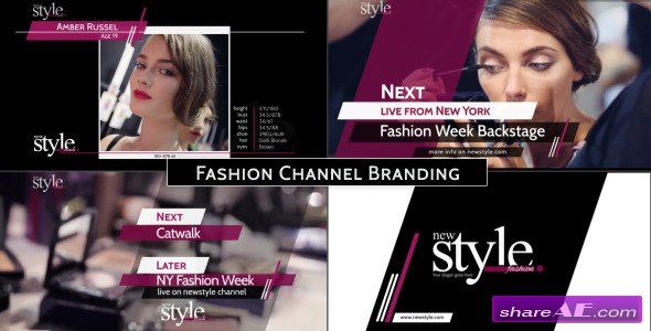 Broadcast Design - Fashion TV Channel Package - After Effects Project (Videohive)