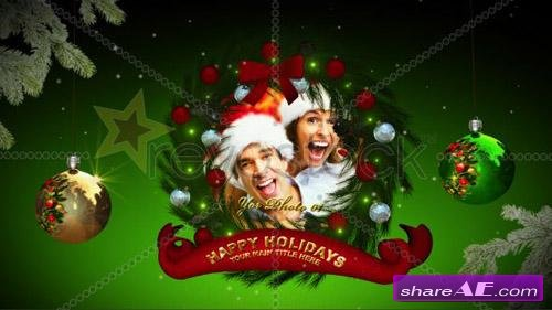 Christmas Wreaths Memories 537001 - After Effects Project (Revostock)