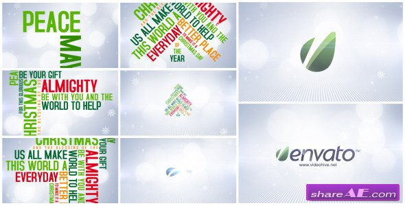 Christmas Typo Wishes - After Effects Project (Videohive)