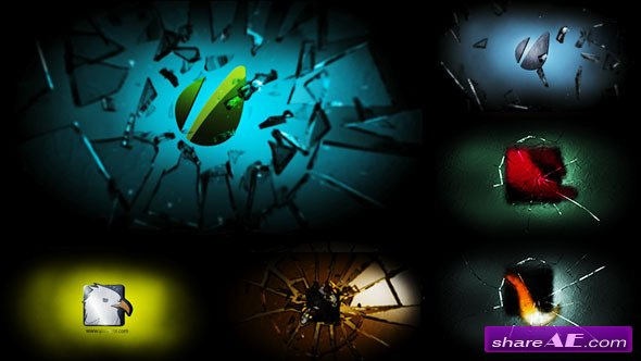 Breaking Glass Logo - After Effects Project (Videohive)