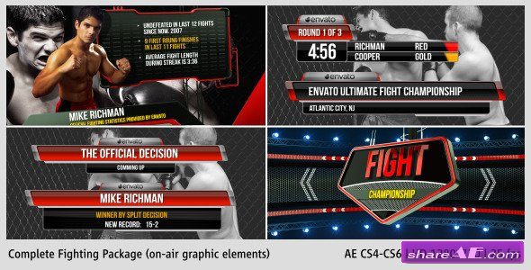 Fighting Complete On-Air Package - After Effects Project (Videohive)