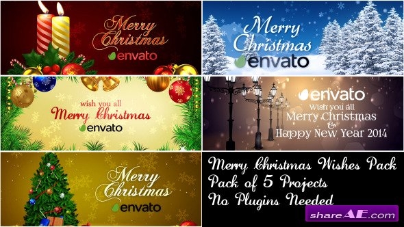 Merry Christmas Wishes Pack - After Effects Project (Videohive)
