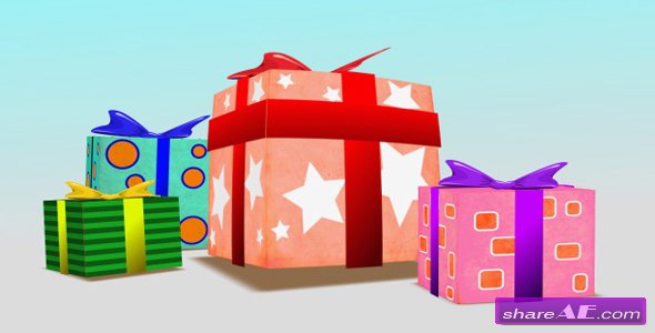 Present Box Birthday - After Effects Project (Videohive)