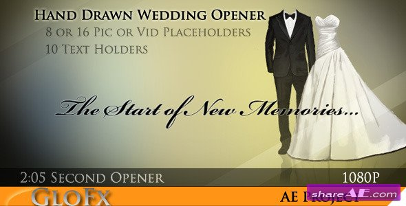 Hand Drawn Wedding Opener - After Effects Project (Videohive)