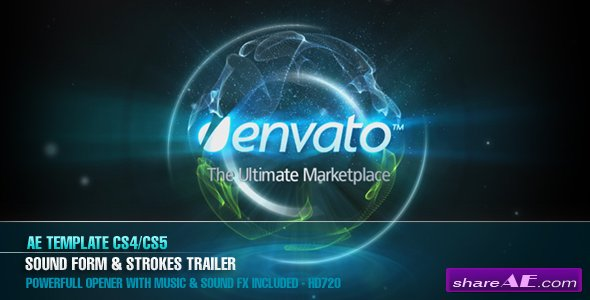 AE CS4 � Sound Form & Strokes Trailer - After Effects Project (Videohive)