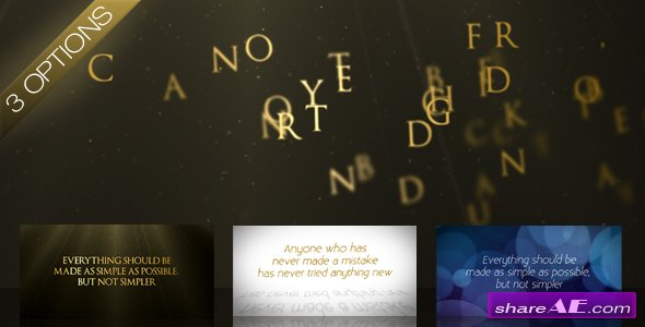 Wind Swept Text - After Effects Project (Videohive)