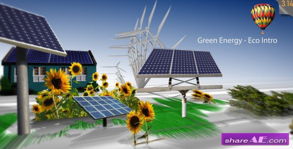 Green Energy Eco Intro After Effects Project