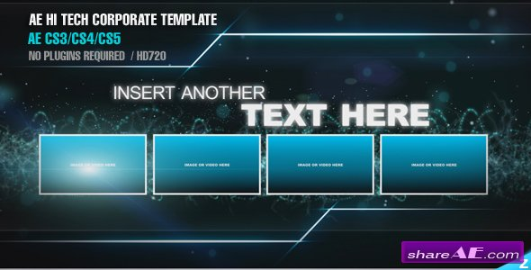 Hitech corporate template after effects project for Aep templates free download